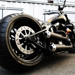 TwinCam Softail 330 wide tire custom [Ole BULL]