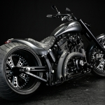 TwinCam Softail 330 Wide Tire Custom : The Chrome Hearts version!!