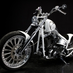 White Rascal : 2004 FXSTB 260 Wide Tire Custom
